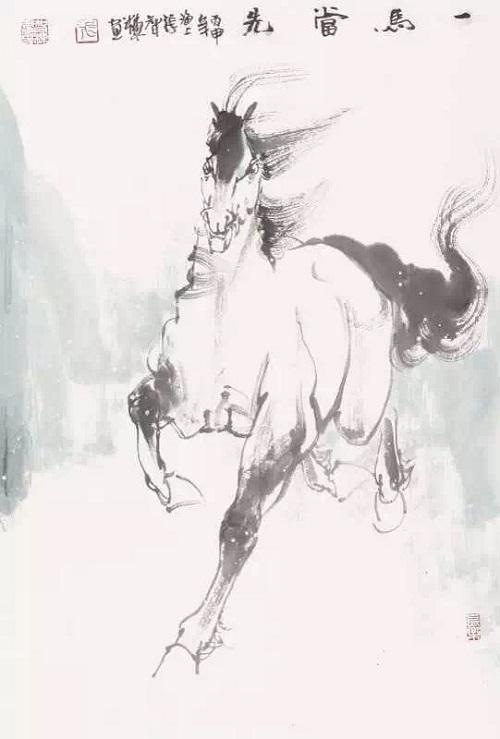 张智栋2016中国画主题作品 马上关公 汗血雄风 和 丹青梦幻 系列参展