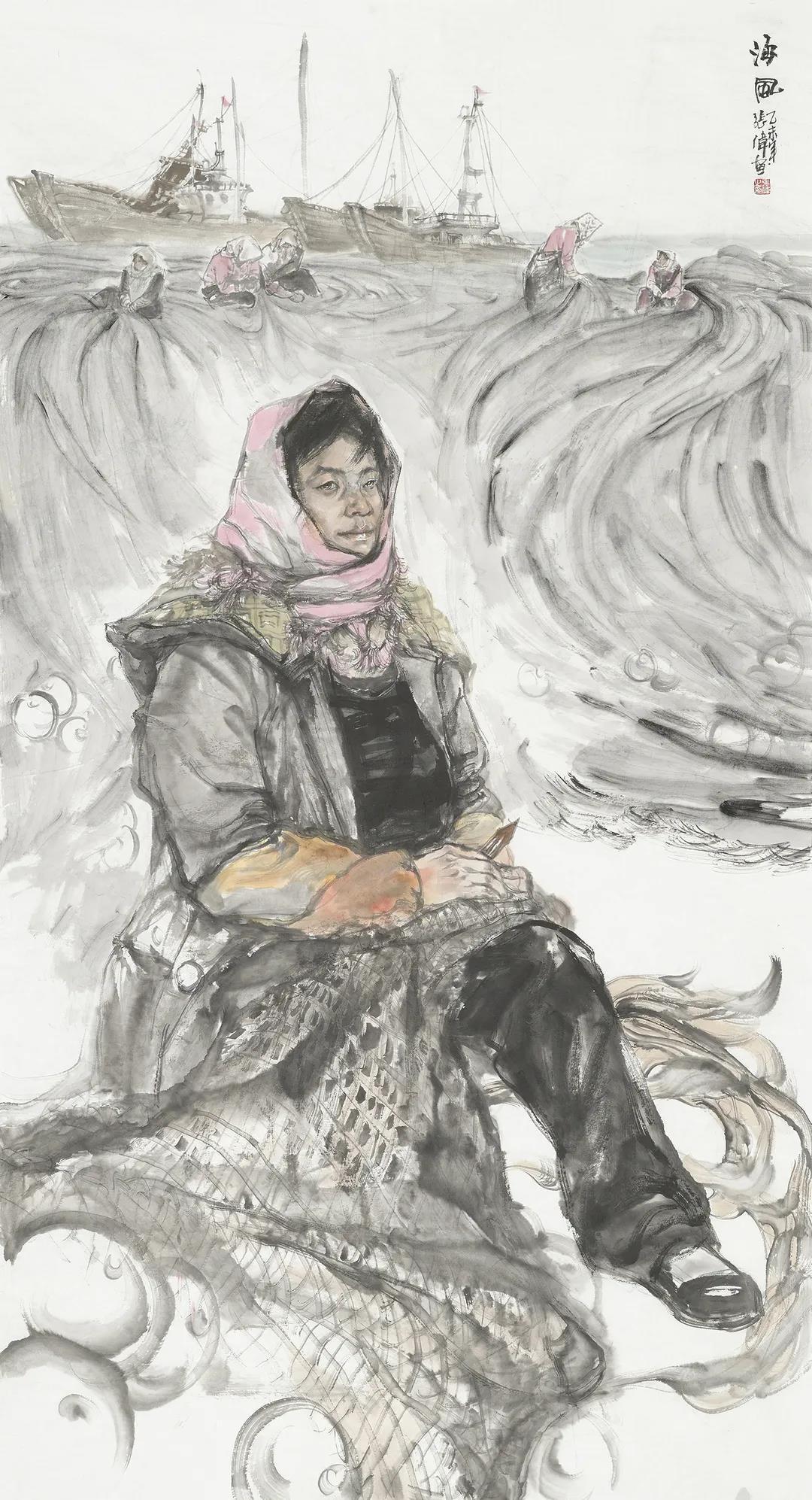 """""""劳动者之歌""""——张智棟中国画""""网上云画册"""" 《从青藏高原到西双版纳》写意人物画"""