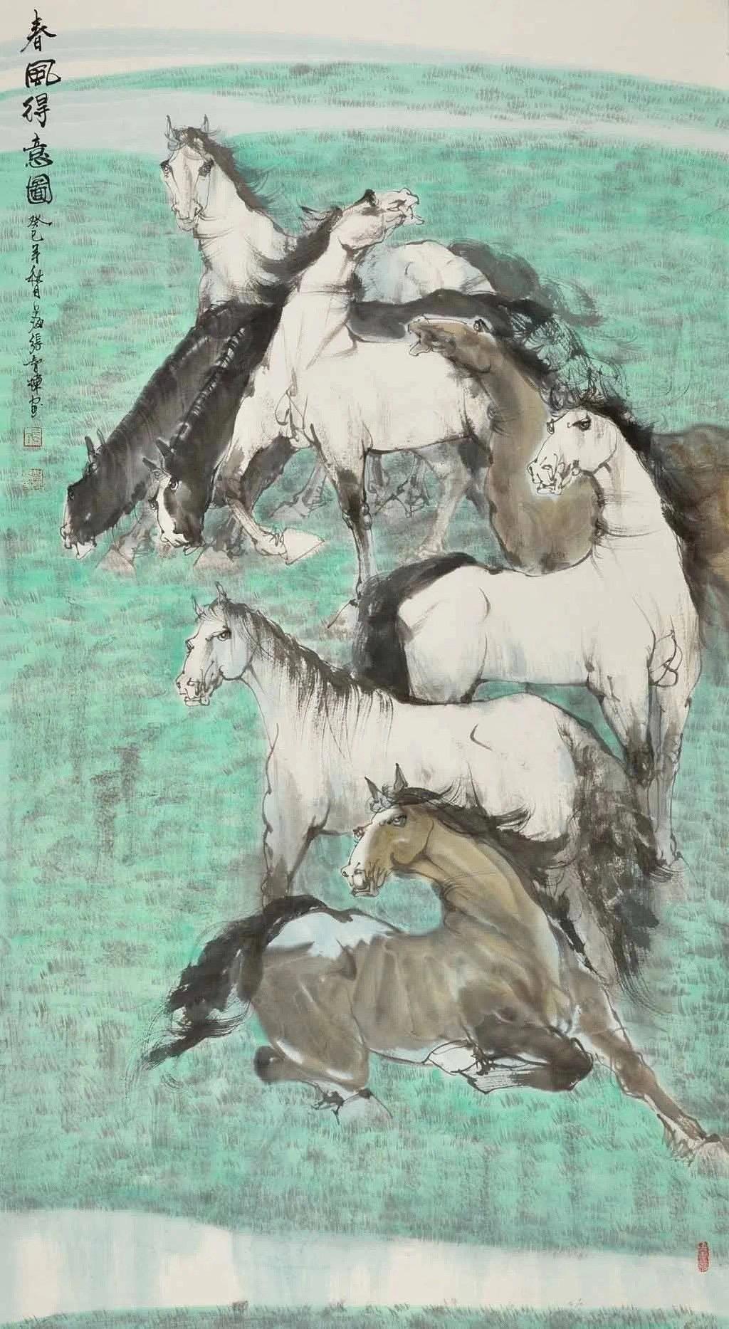 张智棟中国画作品收藏推荐 作品名称:《春风得意圖》  